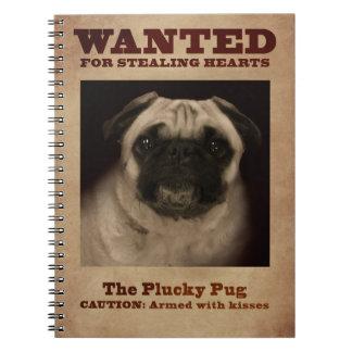 Das Plucky Mops-Notizbuch Notizblock