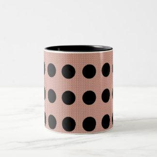 """'Das Pnk Fabric* des Mod-Punktes """"Schwarz-Punkte Zweifarbige Tasse"""