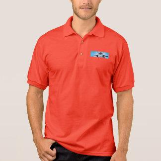 Das Polo-Shirt der Kämpfer-Jet-Comic-Männer Polo Shirt