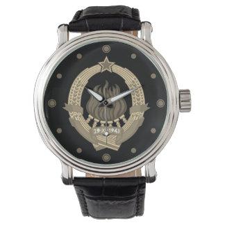 Das prachtvolle SFR Jugoslawien - Emblem-Uhr Armbanduhr