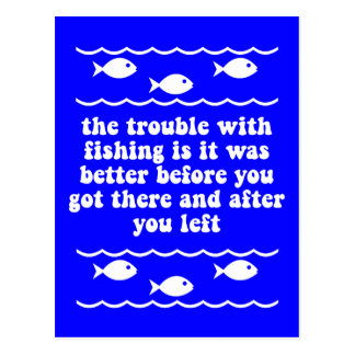 Das Problem mit Fischen Postkarte