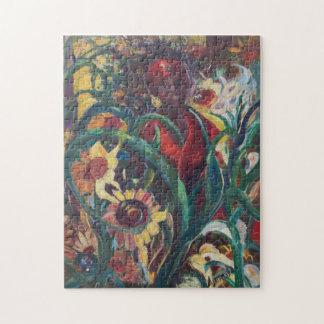 Das Puzzlespiel der Sonnenblume-Frauen-#1 Puzzle