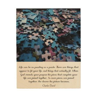 Das Puzzlespiel des Lebens Holzdruck