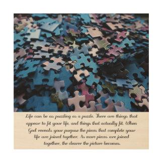 Das Puzzlespiel des Lebens Holzleinwand