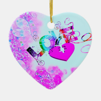 Das Puzzlespiel-Herz-Verzierung der Liebe Keramik Ornament