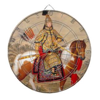 Das Qianlong der China Kaiser 乾隆帝 in der Dartscheibe
