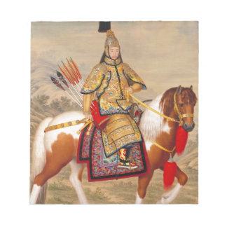 Das Qianlong der China Kaiser 乾隆帝 in der Notizblock