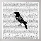 Das Raben-komplette Gedicht durch Edgar Allan Poe Poster