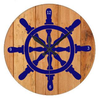 Das Rad des Schiffs Große Wanduhr