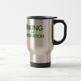 Das Radfahren ist meine Meditation Edelstahl Thermotasse