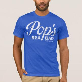 Das raue blaue T-Stück des Pops T-Shirt