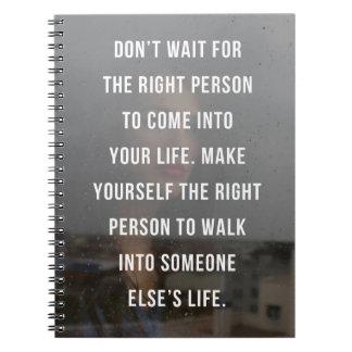 Das rechte Personen-Zitat Notizblock