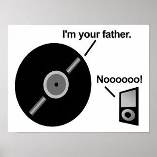Das Rekordvater-lustige Plakat