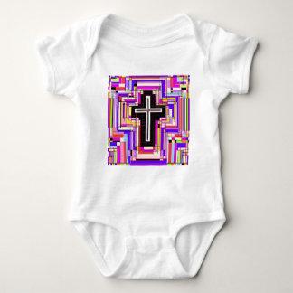 Das religiöse christliche Kreuz Baby Strampler