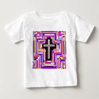 Das religiöse christliche Kreuz Baby T-shirt