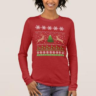 """Das Ren-""""hässliche"""" Weihnachtsstrickjacke der Langarm T-Shirt"""