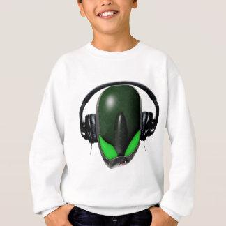 Das Reptil-alien {verärgert} Pissed weg DJ in den Sweatshirt