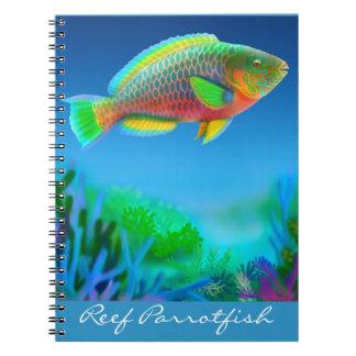 Das Riff-Papageienfisch-kundengerechte Notizbuch Notizblock