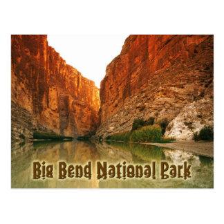 Das Rio Grande, große Biegung NP, Texas Postkarte