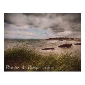 Das romantische Biarritz Postkarte