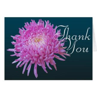 Das rosa Blumen Chrysantheme-Farbchic-Mod danken Karte