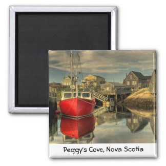 Das rote Boot, Peggy Bucht, Neuschottland Quadratischer Magnet