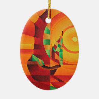 Das Rote Meer Ovales Keramik Ornament