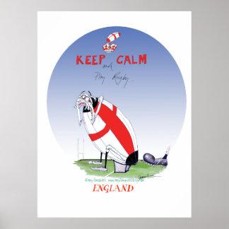 das Rugby des Stiefels herein setzen -, tony Poster