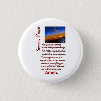 Das Ruhe-Gebet im Raum-Rot Runder Button 2,5 Cm
