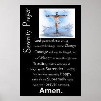Das Ruhe-Gebets-Jesus-Kreuz Poster