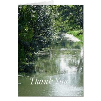 Das ruhige Fluss-Fließen danken Ihnen Gruß-Karte Karte