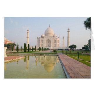 Das ruhige friedliche Taj Mahal an Sonnenaufgang Karte