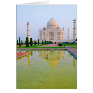 Das ruhige friedliche weltberühmte Taj Mahal an Karte