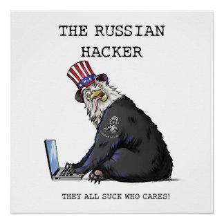 Das russische Hacker-Plakat mit Eagle-Bären Poster