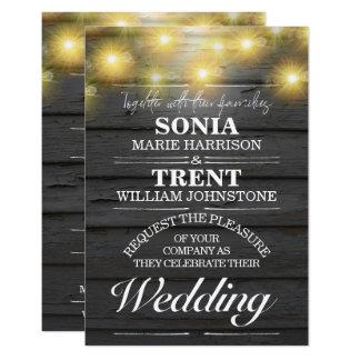 Das rustikale Abends-Land Weatherboards Hochzeit Karte