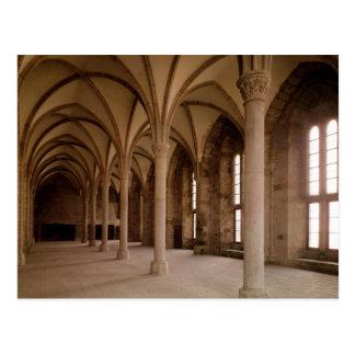 Das Salle DES Hotes, Innenansicht der Abtei Postkarte