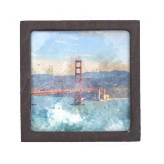 Das San Francisco Golden gate bridge in Kiste