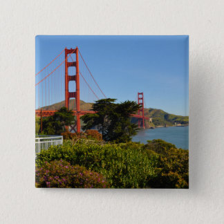 Das San Francisco Golden gate bridge in Quadratischer Button 5,1 Cm