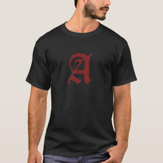 Das Scharlachrot Buchstabe- T-Shirt