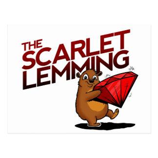 Das Scharlachrot Postkarte des Lemmings (mit