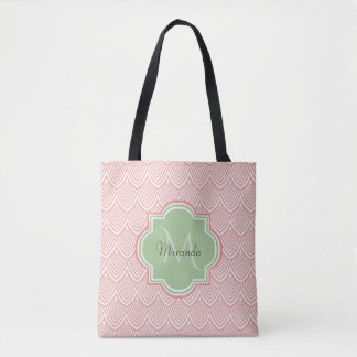 Das schicke gewölbte Rosa bogt weichen grünen Tasche