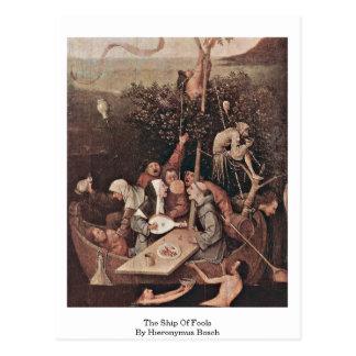 Das Schiff der Dummköpfe. Durch Hieronymus Bosch Postkarte