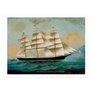Das Schiff Fleetwing, Hong Kong-Bucht Postkarte