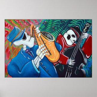 Das schlechte Blues-Knochen-Band-Plakat Poster