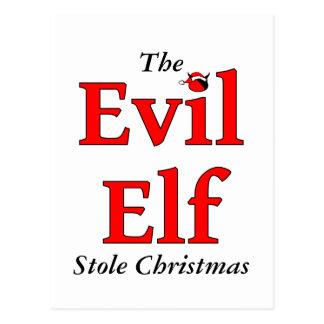 Das schlechte Elf-Stola-Weihnachten Postkarte