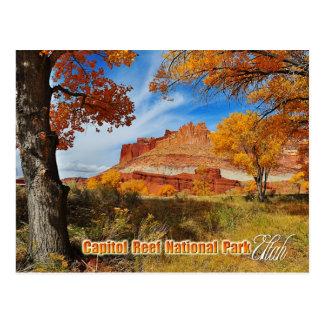 Das Schloss am Hauptstadts-Riff-Nationalpark, Utah Postkarte