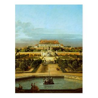 Das Schloss Hof, Garten-Seite durch Bernardo Postkarte