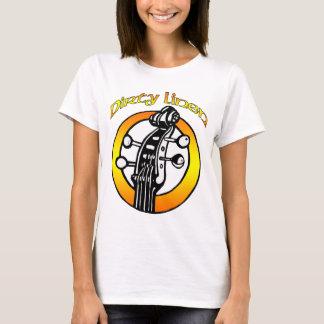 Das schmutzige Leinenlogo der Frauen orange u. T-Shirt
