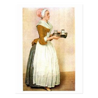 Das Schokoladen-Mädchen, Kunstmalerei Postkarten