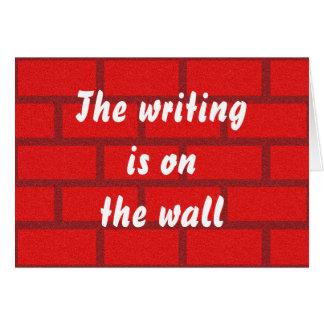 Das Schreiben ist auf der Wand Karte
